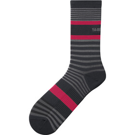 Shimano Original Tall Socks, grey/red stripe